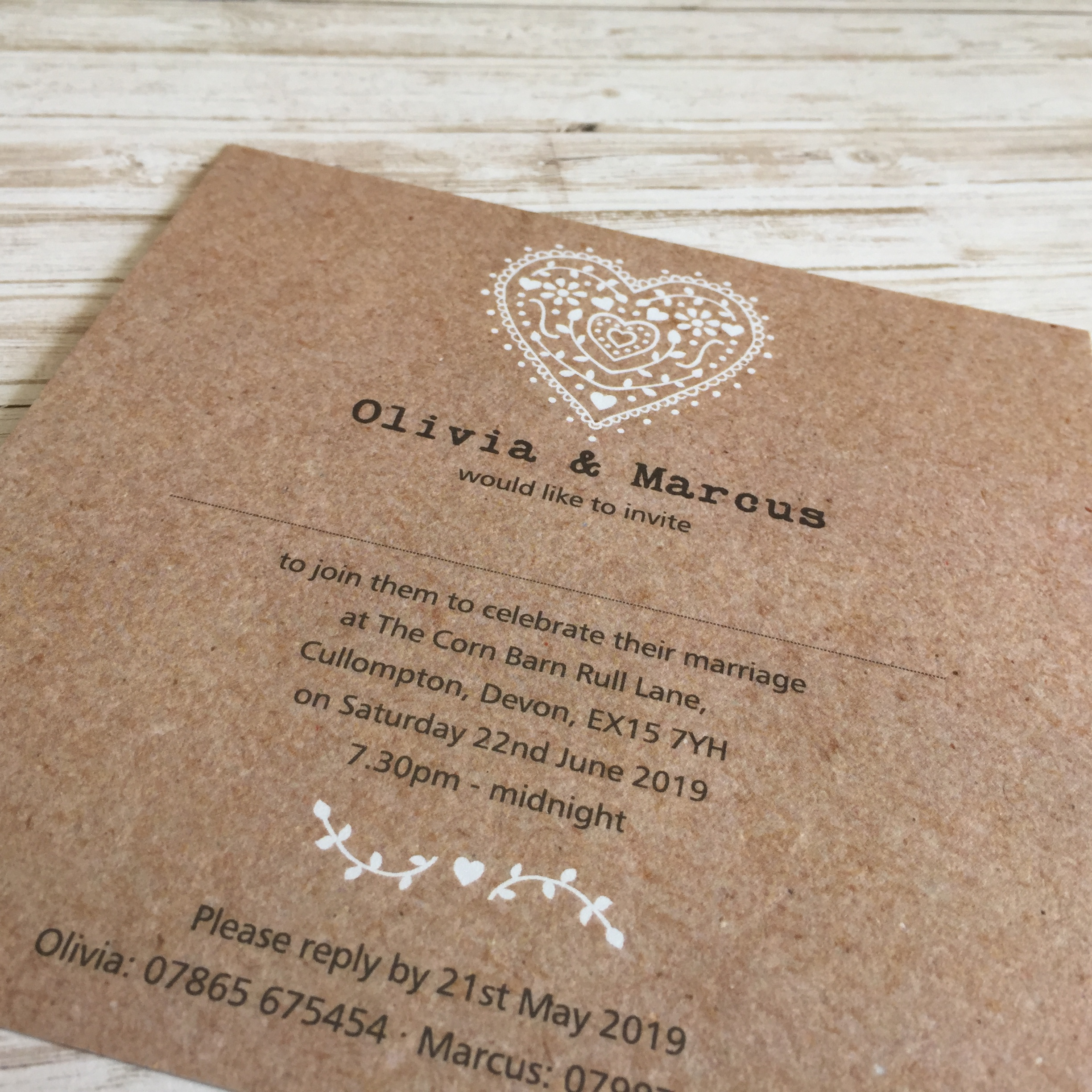 Nordic Heart Evening Invitations – Dilly & Dilly